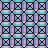 Seamless geometric pattern of pastel colors squares with strokes Royalty Free Stock Photos