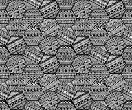 Seamless geometric pattern in patchwork style. Zentangle. Ornament. Ethnic and tribal motifs. Print painted by hand. Vector illustration royalty free illustration