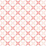 Seamless geometric pattern with petal abstract flowers. Vector Illustration Stock Images