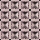 Seamless geometric pattern of pink diamonds and squares. Royalty Free Stock Image