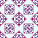 Seamless geometric pattern, pink,maroon, purple rhombus and a square Royalty Free Stock Photography