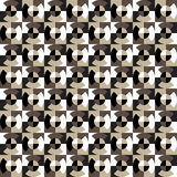 Seamless geometric pattern of the quarters of the circle on the squares. Stock Images