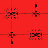 Seamless geometric  pattern on red background Stock Photography