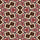 Seamless geometric pattern in red and brown Royalty Free Stock Photography