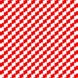 Seamless geometric pattern red color Stock Photography