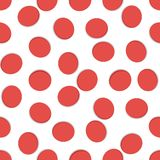 Seamless geometric pattern, red hole on white background, stripes abstract template, vector illustration stock illustration