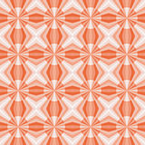 Seamless geometric pattern with red and pink stars and circles. stock illustration