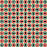 Seamless Geometric Pattern in Retro Colors for Hipsters Royalty Free Stock Photos