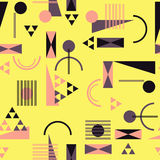Seamless geometric pattern in retro 80s style. Background Royalty Free Stock Photography