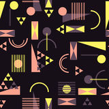 Seamless geometric pattern in retro 80s style. Background Stock Photos