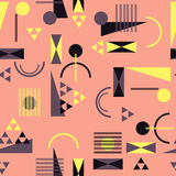 Seamless geometric pattern in retro 80s style. Background Stock Photo