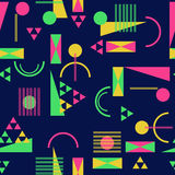 Seamless geometric pattern in retro 80s style. Background Stock Photography