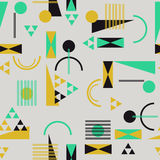 Seamless geometric pattern in retro 80s style. Background Royalty Free Stock Images