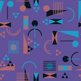 Seamless geometric pattern in retro 80s style. Background Royalty Free Stock Photos