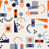 Seamless geometric pattern in retro 80s style. Background Stock Image