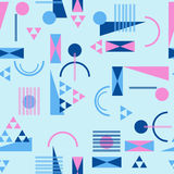 Seamless geometric pattern in retro 80s style. Background Royalty Free Stock Photo