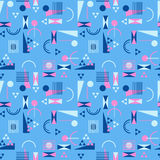 Seamless geometric pattern in retro 80s style. Background Royalty Free Stock Image