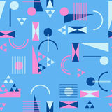 Seamless geometric pattern in retro 80s style. Background Stock Images