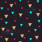 Seamless geometric pattern in retro 80s style. Stock Photos