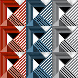 Seamless Geometric Pattern In Retro Style. Royalty Free Stock Photos