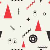 Seamless geometric pattern retro style Stock Photos