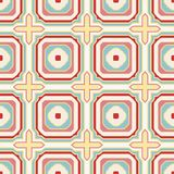Seamless geometric pattern in retro style Stock Image
