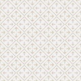 Seamless geometric pattern in retro style, soft colors. Stock Image