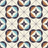 Seamless geometric pattern in retro style. Vector illustration Royalty Free Stock Photo