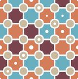 Seamless geometric pattern. Seamless geometric rhombus and circle pattern. Vector illustration Royalty Free Stock Photos