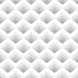 Seamless geometric pattern of rhombuses gray stripes located. Royalty Free Stock Photos