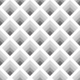 Seamless geometric pattern of rhombuses gray tones Royalty Free Stock Images
