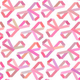 Seamless geometric pattern ribbon bows Royalty Free Stock Images