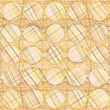 Seamless geometric pattern with rows of circles Royalty Free Stock Photo