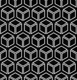 Seamless geometric pattern. Seamless geometric hexagons and diamonds pattern. 3D illusion. Vector art vector illustration
