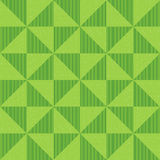 Seamless geometric pattern of sequins, flickering triangles and vertical lines. Background of green triangles. Abstract geometric pattern Stock Image
