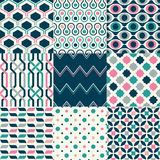 Seamless Geometric Pattern Set Royalty Free Stock Photography