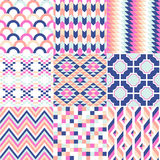 Seamless geometric pattern set Royalty Free Stock Photo