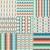 Seamless geometric pattern set Stock Photos