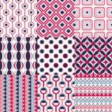 Seamless geometric pattern set Royalty Free Stock Photos