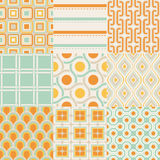 Seamless geometric pattern set Royalty Free Stock Photos