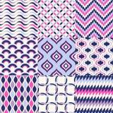 Seamless geometric pattern set Royalty Free Stock Photo