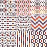 Seamless geometric pattern set Royalty Free Stock Images
