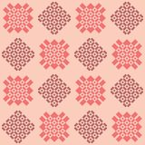 Geometric pattern in shades of pink vector illustration