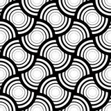 Seamless geometric pattern, simple vector black and white stripe Stock Images