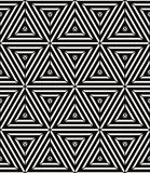 Seamless geometric pattern, simple vector black and white stripe Royalty Free Stock Photo