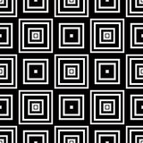 Seamless geometric pattern, simple vector black and white stripe Royalty Free Stock Photography