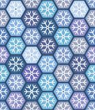 Seamless geometric pattern with snowflakes. Royalty Free Stock Photo