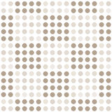 Seamless geometric pattern with square of circles. Stock Photo