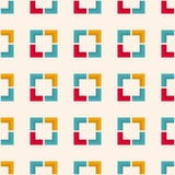 Seamless  geometric pattern with squares and angular shapes Royalty Free Stock Photography