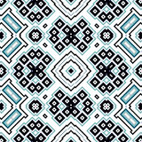 Seamless geometric pattern with squares and rectangles Royalty Free Stock Photos